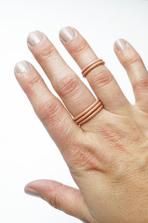 Stacking Ring in Dusty Rose