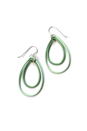 Ella earrings in Soft Mint and Pale Green