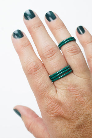 Stacking Ring in Emerald Green