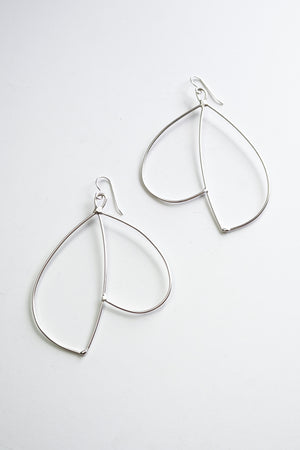 Envoler Statement Earrings in black steel, silver, or bronze