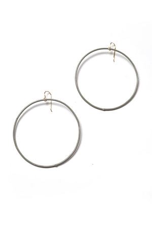 Extra Large Evident Earrings in Stone Grey