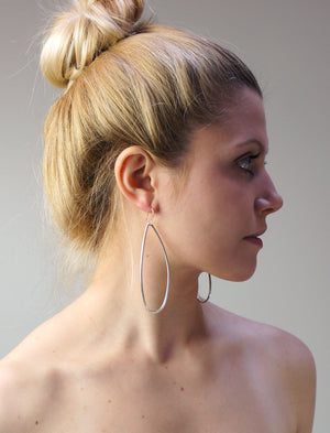 extra-long petal earrings