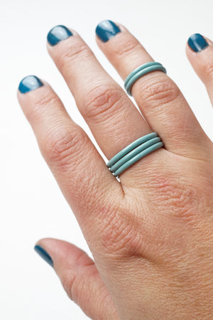 Stacking Ring in Faded Teal