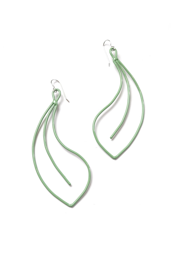 Fleur Statement Earrings in Pale Green