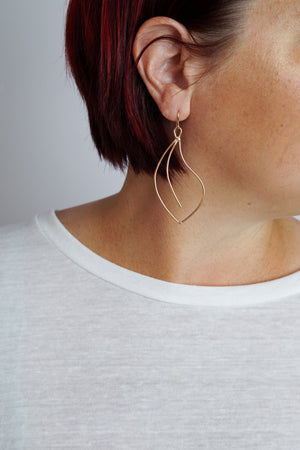 The Flourish earrings add the perfect accent to your every day style and make an excellent addition to your travel wardrobe. Dress them up or down, the possibilities are endless!