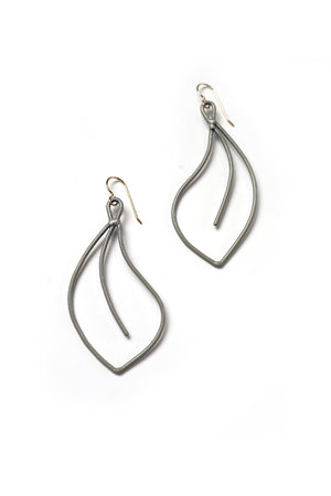 Flourish Earrings in Stone Grey