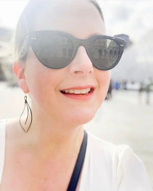 The Fleur earrings are the perfect addition to your travel wardrobe.  Whether you're wandering the streets of Paris or just wandering down to your local coffee shop, these lightweight durable earrings go where you go!