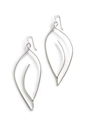 Galbe Statement Earrings in black steel, silver, or bronze