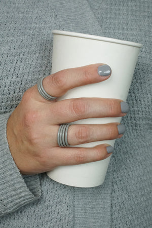 Stacking Ring in Stone Grey