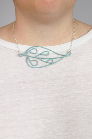 Horizontal Ada Necklace in Faded Teal