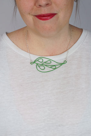 Horizontal Ada Necklace in Fresh Green
