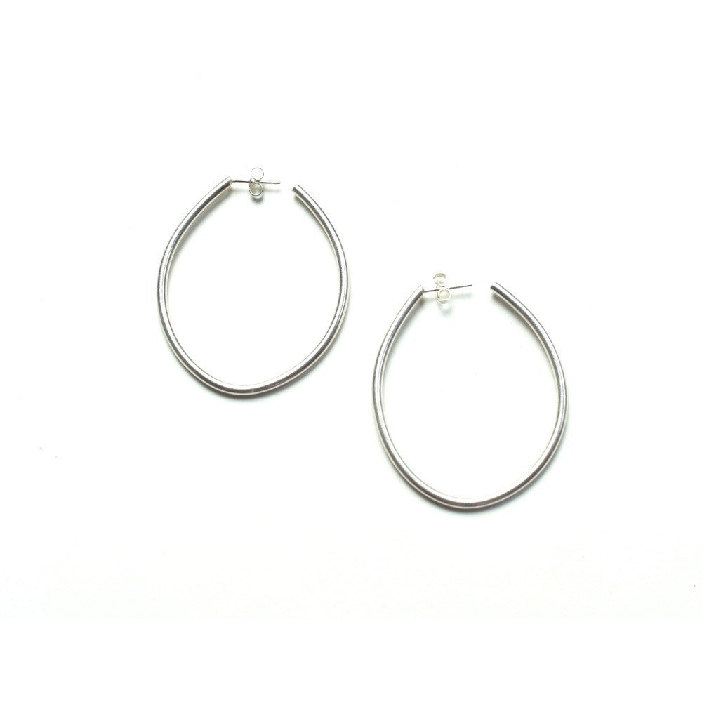 droplet hoop earrings