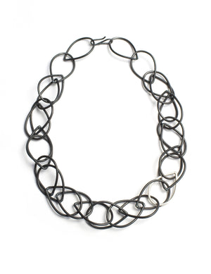 Isabella necklace in steel and silver