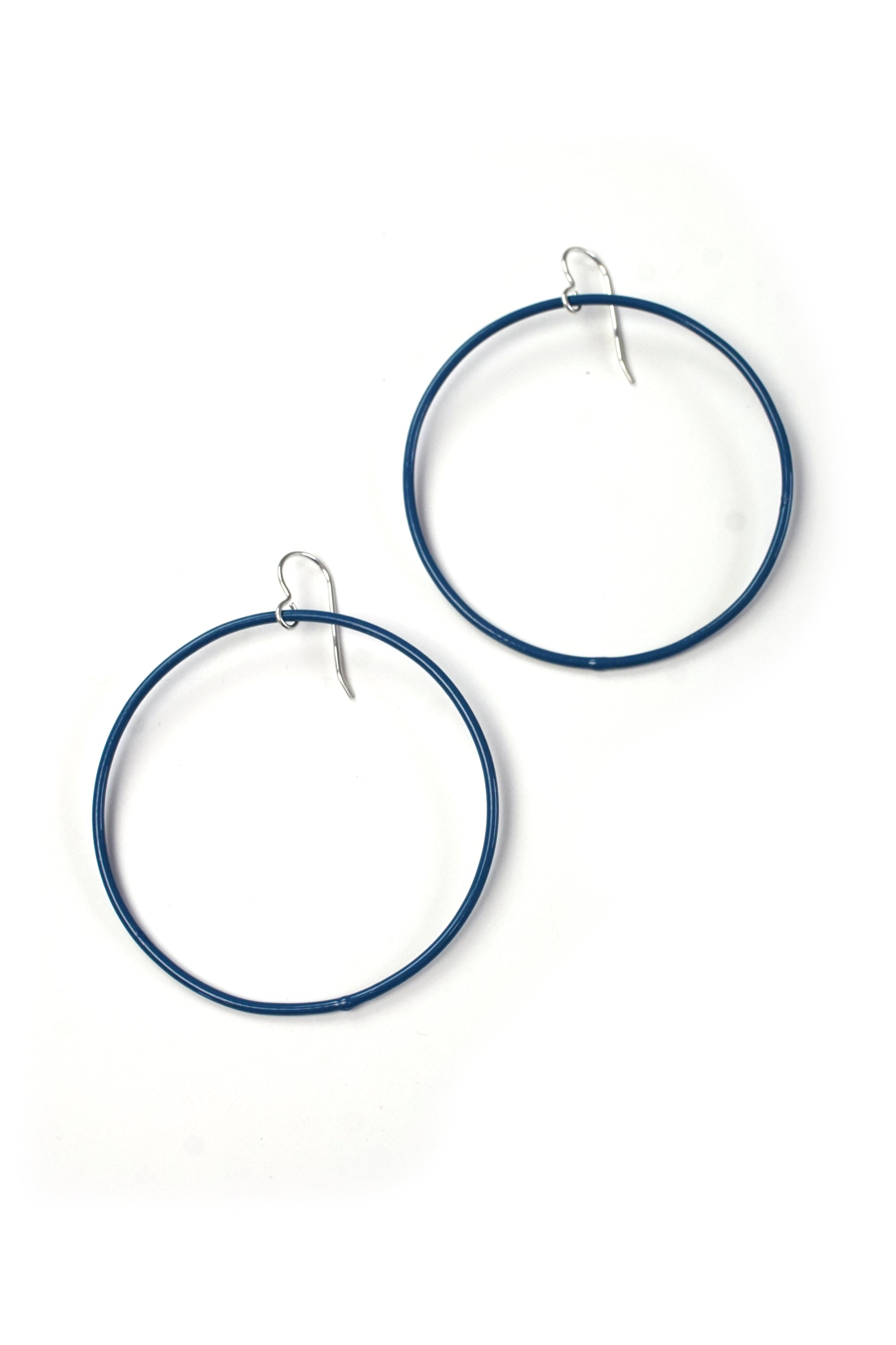 Large Evident Earrings in Azure Blue