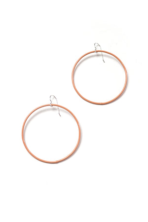 Large Evident Earrings in Dusty Rose