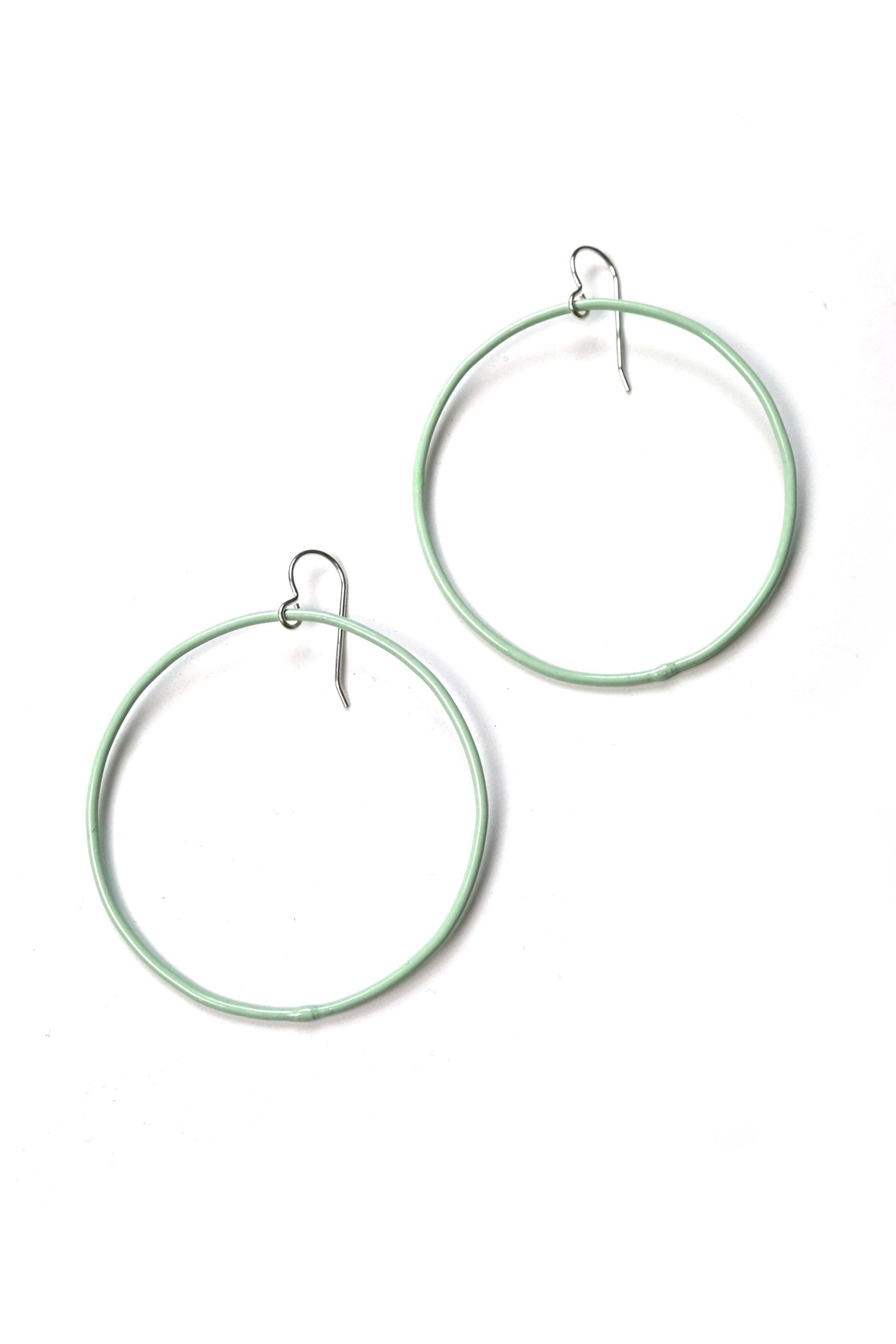 Large Evident Earrings in Soft Mint