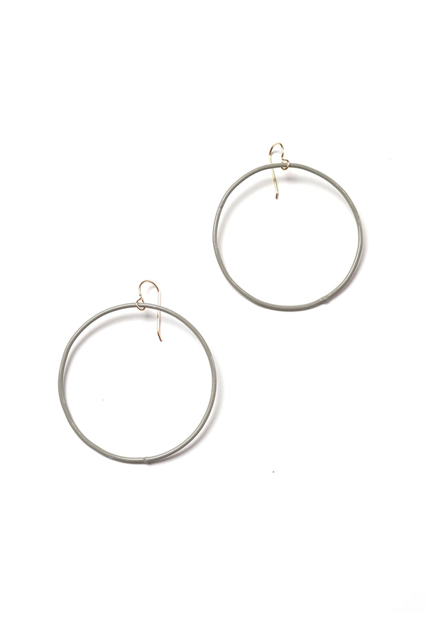 Large Evident Earrings in Stone Grey
