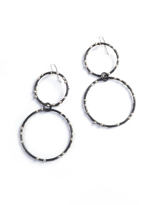 Zoe Earrings - Silver on Steel