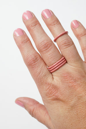 Stacking Ring in Light Raspberry
