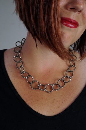 Amaranth Necklace - Silver on Steel
