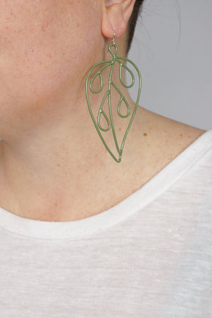 Long Ada Earrings in Fresh Green