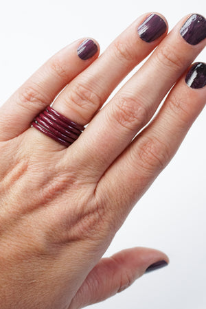 Stacking Ring in Lush Burgundy