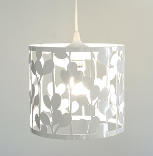 vertical leaf medium pendant lamp - gloss white