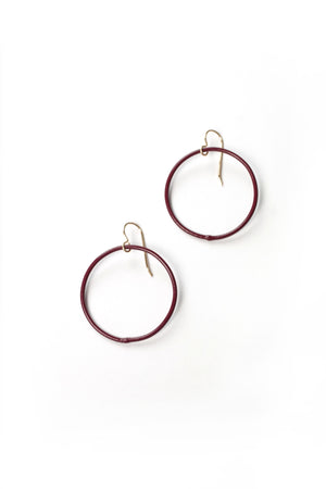 Medium Evident Earrings in Lush Burgundy