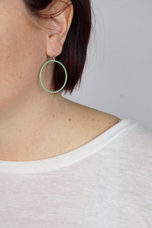 Medium Evident Earrings in Pale Green