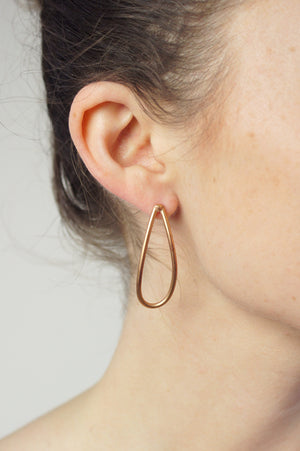 petal post earrings in bronze
