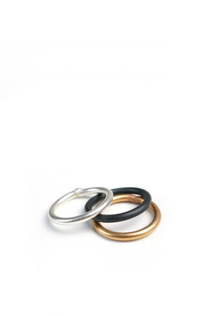 mixed metal stacking rings (set of three)