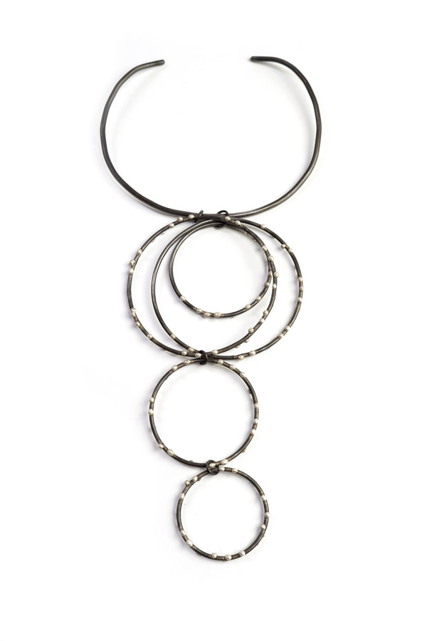 Bold Hilma Collar Necklace - Silver on Steel