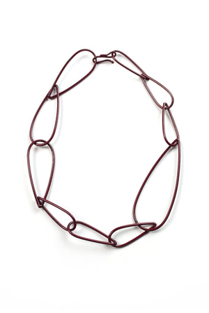 Modular Necklace No. 2 in Lush Burgundy