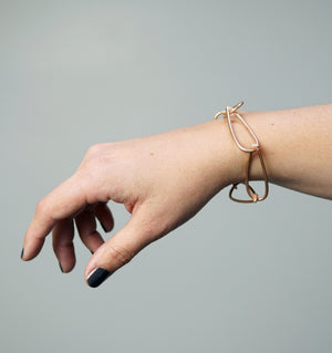 Modular bracelet in bronze - sample sale