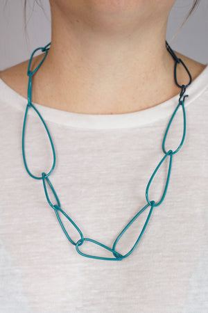 Modular Necklace in Bold Teal and Deep Ocean