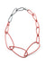 Modular Necklace in Coral Red and Storm Grey