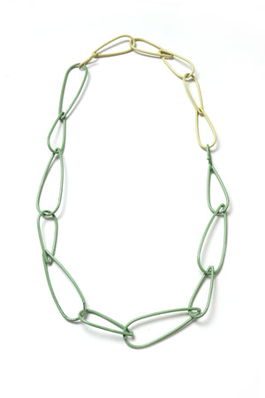 Modular Necklace in Pale Green and Green Sand