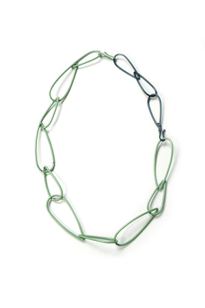 Modular Necklace in Pale Green and Deep Ocean