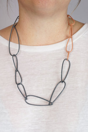 Modular Necklace in Storm Grey and Dusty Rose