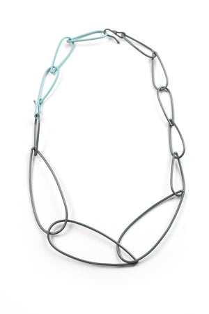 Modular Necklace in Storm Grey and Faded Teal