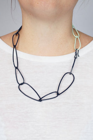 Modular Necklace in Dark Navy and Soft Mint