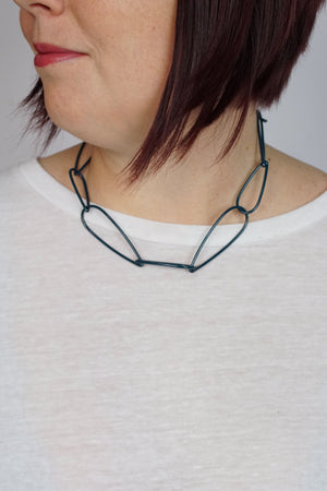 Modular Necklace No. 1 in Deep Ocean