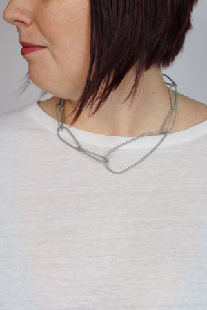 Modular Necklace No. 2 in Stone Grey