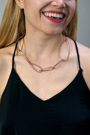 Modular Necklace No. 2 in bronze - sample sale