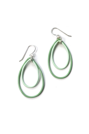 Nellie earrings in Pale Green and Soft Mint