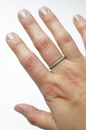 Stacking Ring in Pale Green