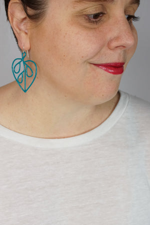 Petite Ada Earrings 2 in Bold Teal