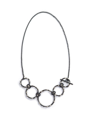 Petite Zoe Necklace - Silver on Steel