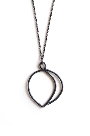 Fourni Necklace in black steel, silver, or bronze