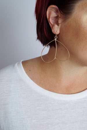 lightweight bronze wire statement earrings